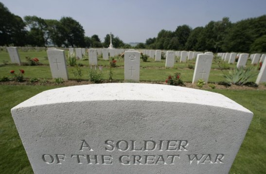 gravestone from WWI