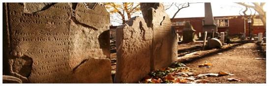 Slate in Old Pine cemetery, Philadelphia, PA